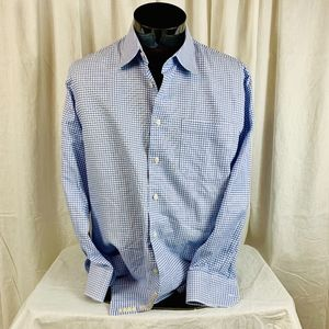 John W Nordstrom Blue Check Button Front 16.5 33